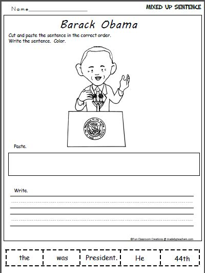 4th grade activities for president obama just b cause presidential candidate worksheet just b 28 images esl