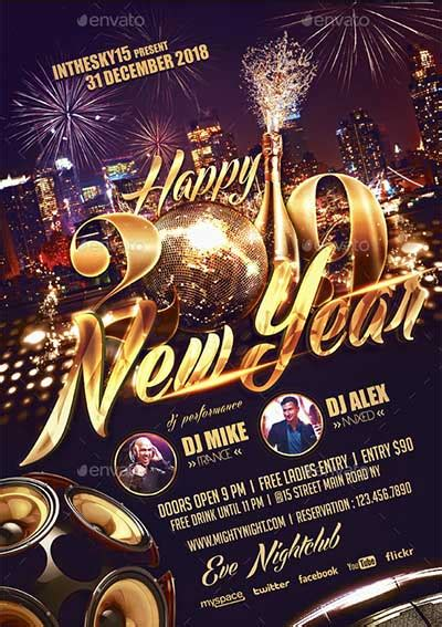 New Year Flyer Template V2