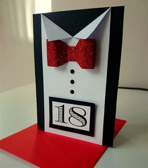 Handmade 18 Birthday Cards - items similar to 18th birthday card for him happy