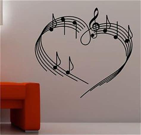 imagenes de notas musicales en forma de corazon notas musicales en forma de corazon pegatina de pared arte