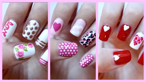 simple valentines day nails valentines day nails three easy designs jennyclairefox