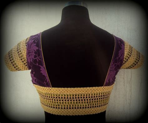 Blouse By Heaven Light Clo violet lace blouse with piping and detailed borders