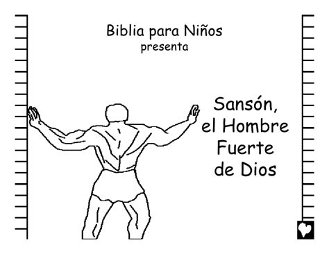 dibujos para nios de la historia de sanson samson gods strong man spanish cb