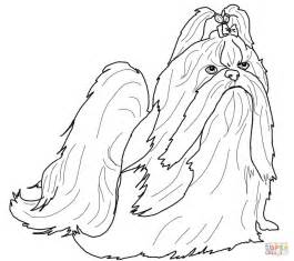 Shih Tzu Coloring Pages shih tzu coloring book coloring pages