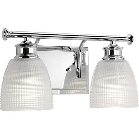 polished chrome bathroom lighting progress lighting lucky collection 2 light polished chrome