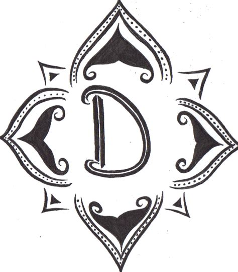 letter d tattoo designs designs for d cross tattoos