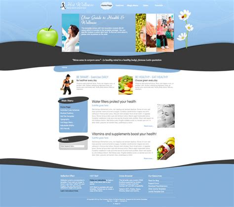 wellness template joomla wellness template wellness hotthemes