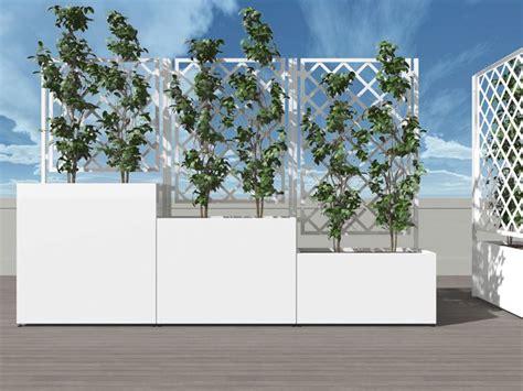 arredamento per terrazzi fioriere per terrazzi il verde