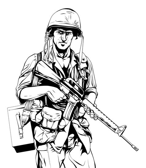 vietnam war coloring book coloring pages
