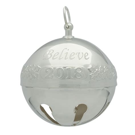 wallace silver bell 2018 2018 believe bell polar express bell silverplate ornament