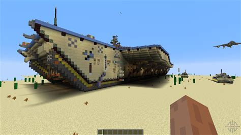 carrier for plane opposite aircraft carrier for minecraft