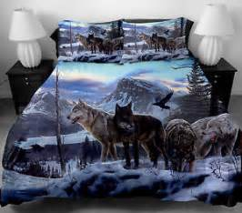 Space Comforter Twin 4 Pcs 3d Wolf Pattern Twin Full Queen Size Duvet Cover 100