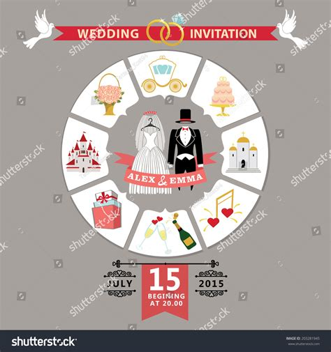 wedding infographic template wedding infographic set groomwedding stock