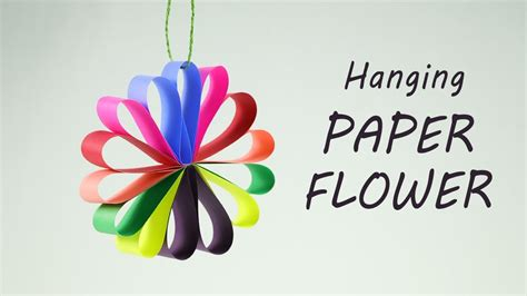 How To Make Hanging Paper Flowers - diy hanging paper flowers garland for easy