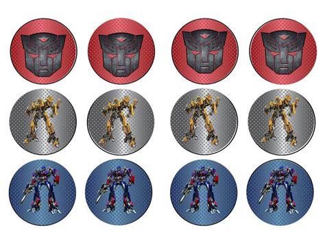 Cupcake Toppers Karakter Tema Bumblebee Transformers transformers autobots cupcake toppers bumblebee optimus prime