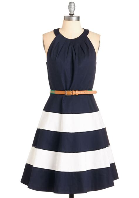 Cutie Dress mew and me forever flat in cognac modcloth navy blue