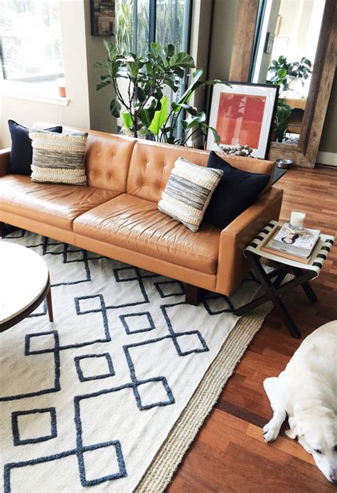 camel leather sofa decorating ideas roundup 5 amazing mid century living room ideas