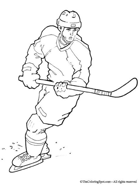simple hockey coloring pages nhl worksheets for kids thecoloringspot com hockey