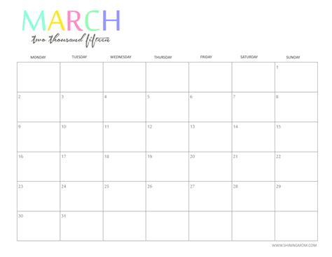 astonishing free printable blank calendars 2015 19 in home design