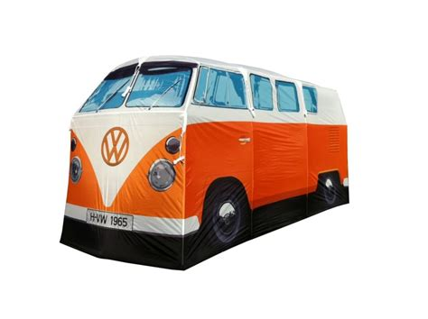orange volkswagen van volkswagen cervan 4 man tent available at boysstuff co uk
