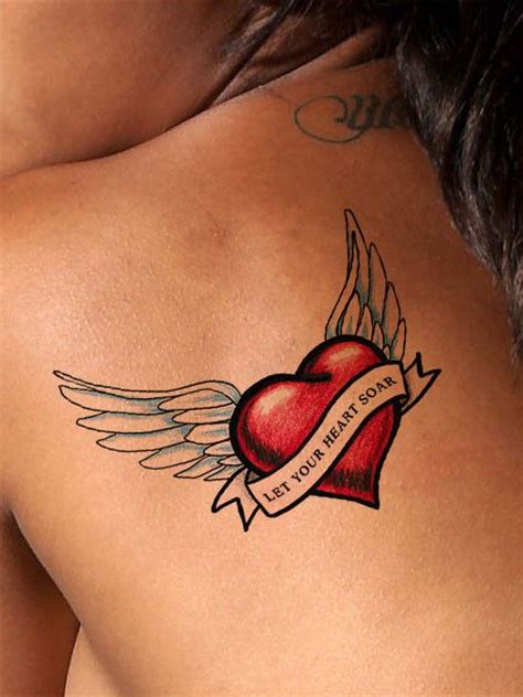 winged heart tattoo designs best 25 memorial tattoos ideas on