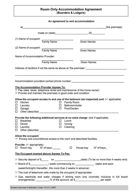 roommate agreement template word 40 free roommate agreement templates forms word pdf