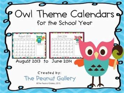 owl calendar template 162 best images about ambers owl classroom on