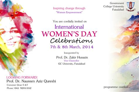 S Day Function International S Day Invitation