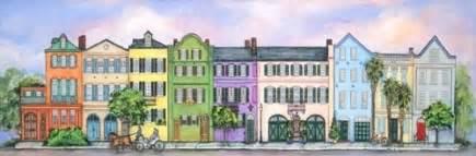 Charleston Row Houses - shelia thompson work zoom rainbow row charleston s c