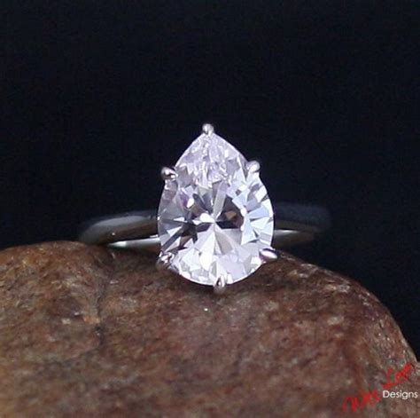 light pink sapphire engagement rings light pink sapphire solitaire pear engagement ring 4 5ct