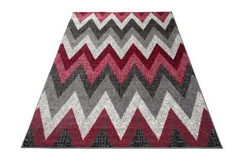 teppich schwarz weiß zick zack tapiso jawa teppich kurzflor meliert teppiche in modern