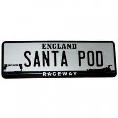 Sticker Plat California Santa licence plate window sticker