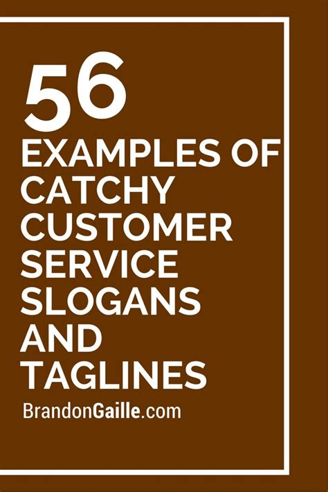 company names for sale 57 exles of catchy customer service slogans and