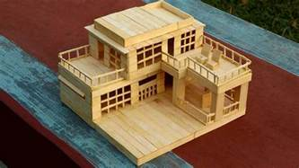 how to make house plans how to make a modern popsicle sticks house