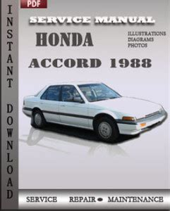 security system 1996 honda accord free book repair manuals honda accord 1988 service manual download repair service manual pdf