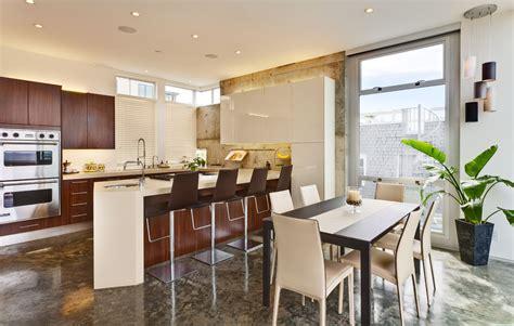 Kitchen Floating Island dark wood floor kitchen kitchen modern with high gloss