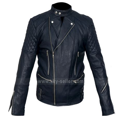 blue motorcycle jacket brando movie style blue motorcycle leather jacket