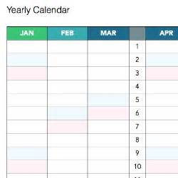 yearly calendar template printable calendar templates