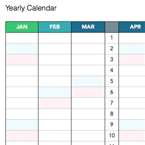 Yearly Content Calendar Template yearly calendar template calendar template excel