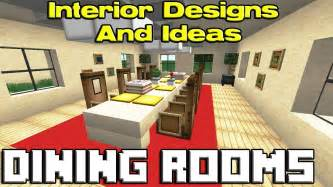 Dining Table In Minecraft Minecraft Dining Room Designs