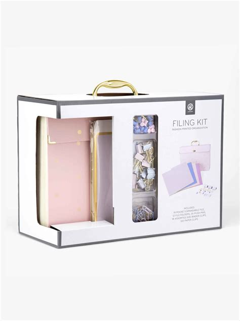 u brands desk accessory kit office filing kit pink u brands