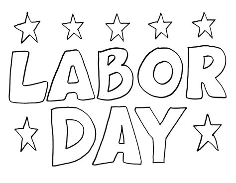 labor day colors coloring pages of labor day coloring