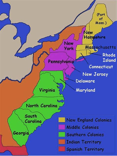 13 Great New To by 13 Original Thirteen Colonies Map Re 13 Colonies And