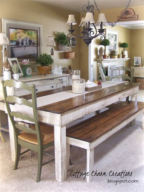 Farmhouse Kitchen Table With Bench by Best 25 Farmhouse Table With Bench Ideas On