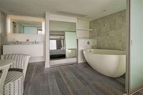 bathroom floor tile natural timber ash wood  tile modern room bathroom flooring