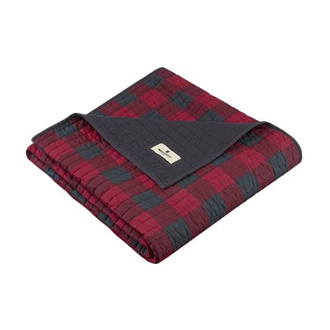 Woolrich Quilted Blanket woolrich check quilted throw ebay