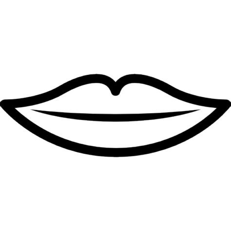 thin lips outline icons free download