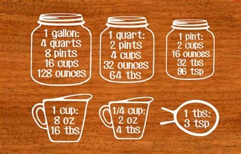 Wall Vinyls Home Decor measuring cups kitchen wall decal kitchen decor wall decor