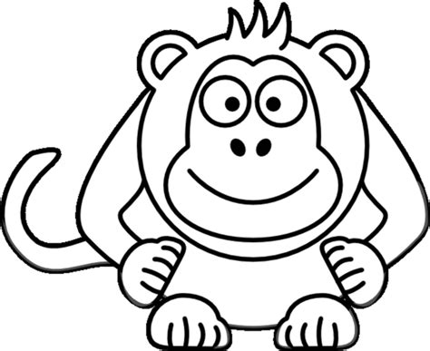 colouring monkey clipart best monkey face coloring page coloring home