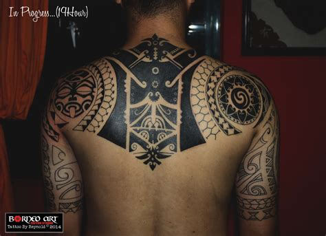 marquesan tribal tattoo design inspired by borneo maori polynesian and marquesan